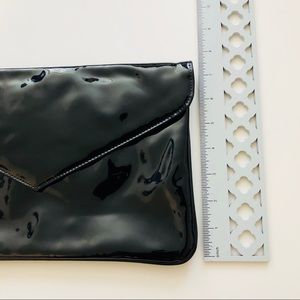 Vintage Bags - Patent Leather Black Envelope Clutch / Wristlet